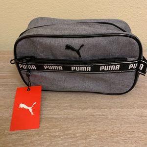 NWT Men's Gray PUMA Toiletry Bag with Black Handle